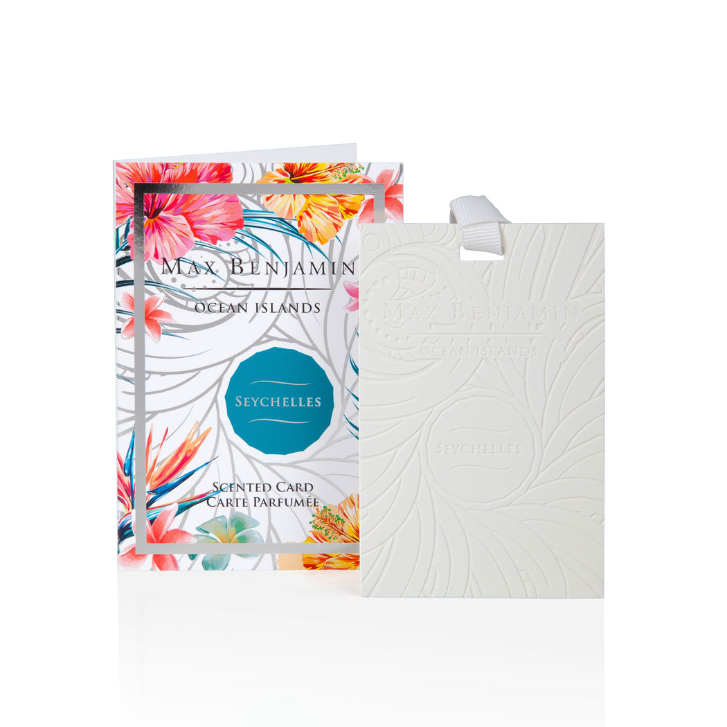 MAX BENJAMIN OCEAN ISLANDS COLLECTION SCENTED CARD - SEYCHELLES