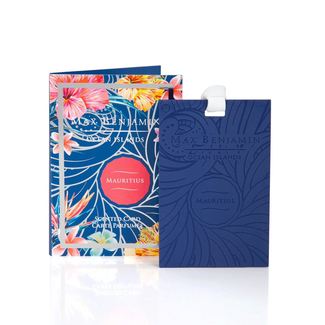 MAX BENJAMIN OCEAN ISLANDS COLLECTION SCENTED CARD - MAURITIUS