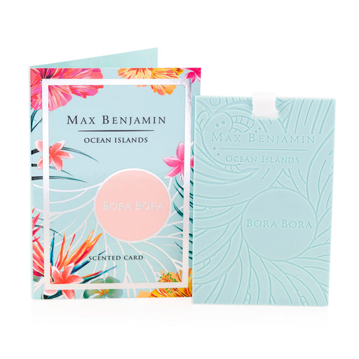 MAX BENJAMIN OCEAN ISLANDS COLLECTION SCENTED CARD - BORA BORA