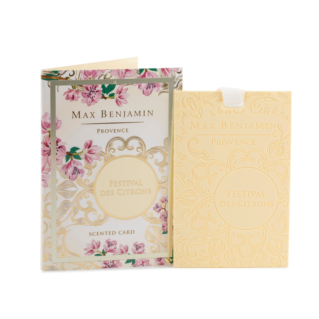 MAX BENJAMIN PROVENCE COLLECTION SCENTED CARD - FESTIVAL DES CITRONS