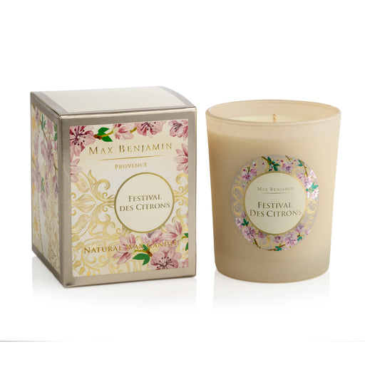 MAX BENJAMIN PROVENCE COLLECTION CANDLE 190G - FESTIVAL DES CITRONS