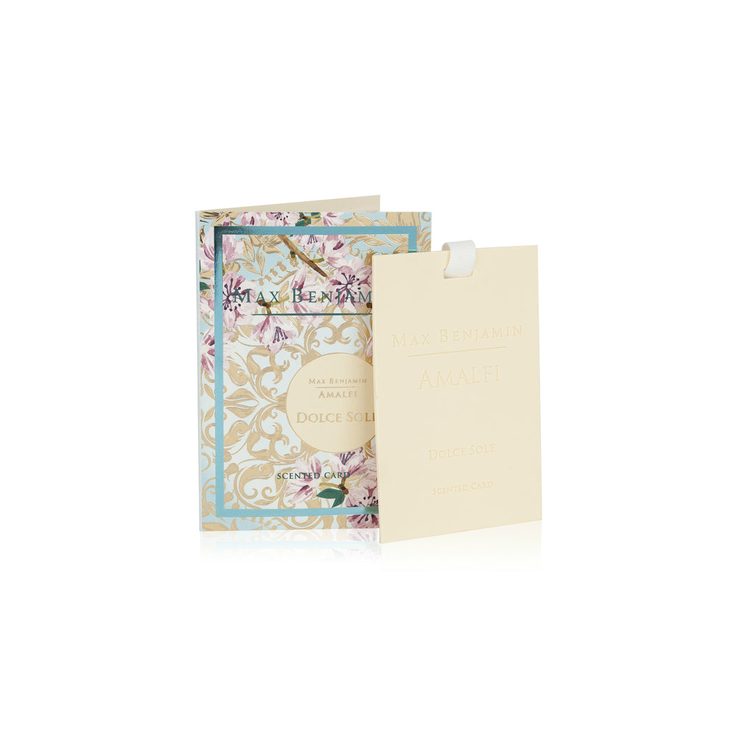MAX BENJAMIN AMALFI COLLECTION SCENTED CARD - DOLCE SOLE