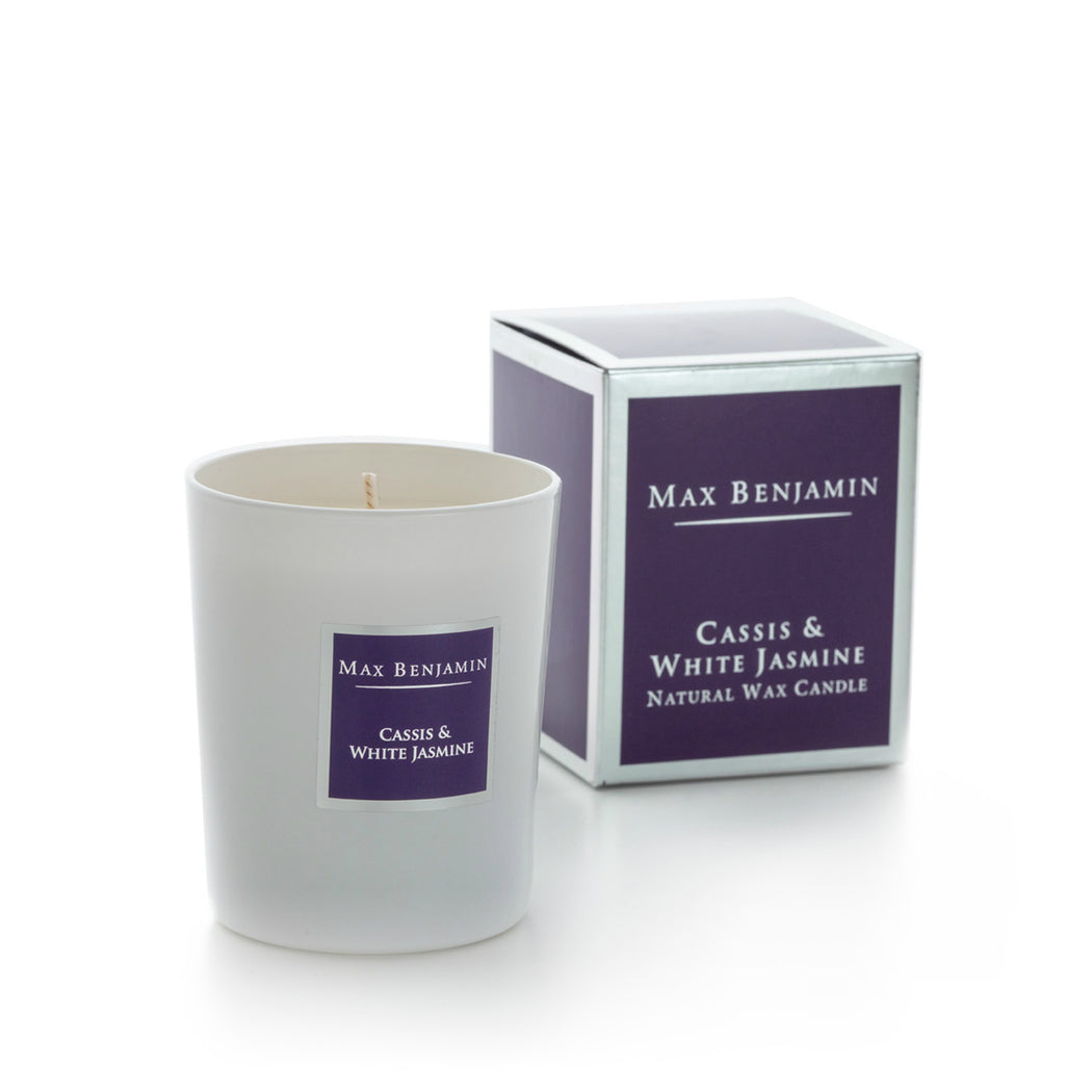 MAX BENJAMIN CLASSIC CANDLE 190G - CASSIS & WHITE JASMINE