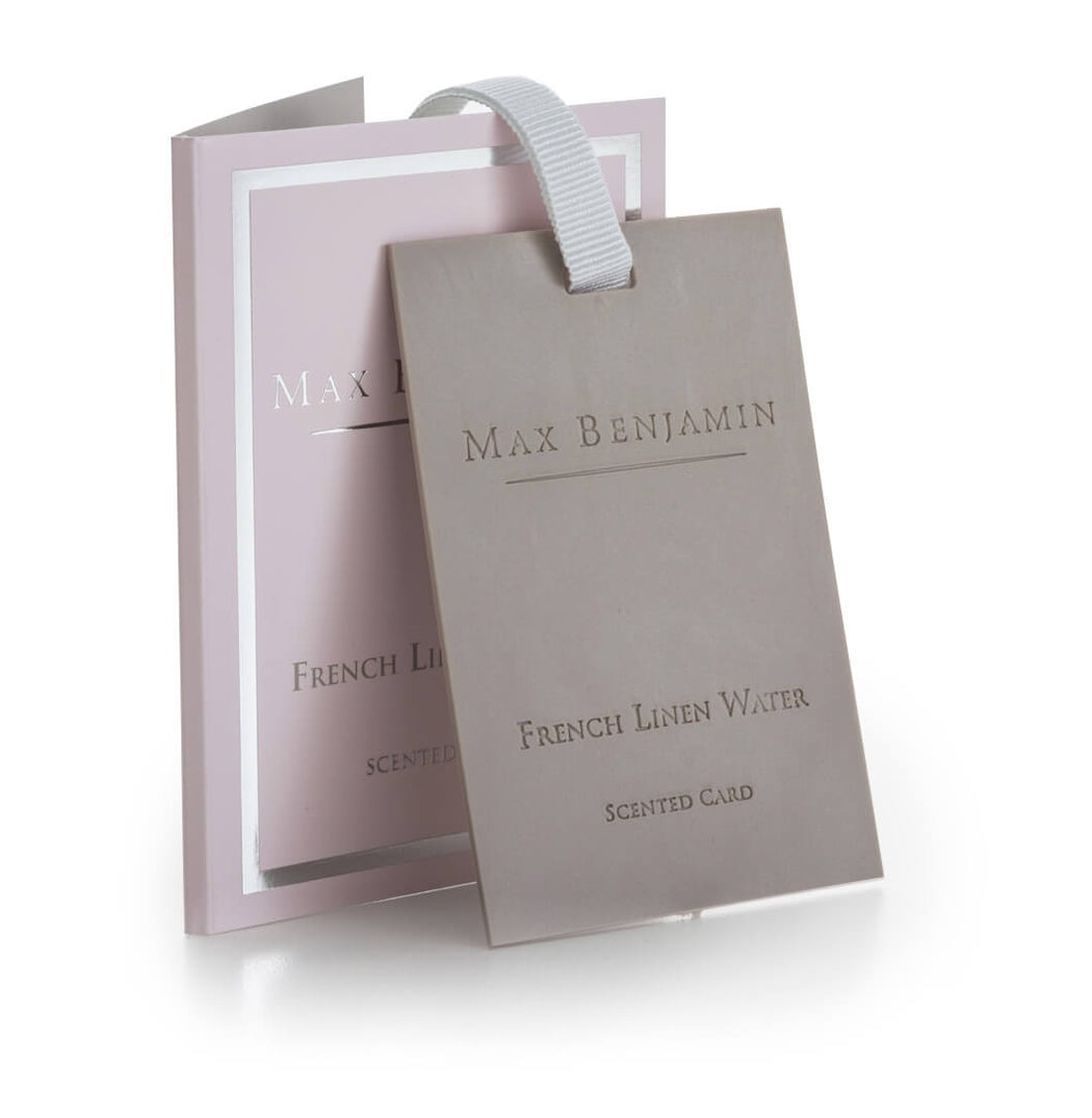 MAX BENJAMIN CLASSIC SCENTED CARD - FRENCH LINEN WATER