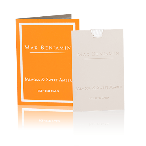 MAX BENJAMIN CLASSIC SCENTED CARD - MIMOSA & SWEET AMBER