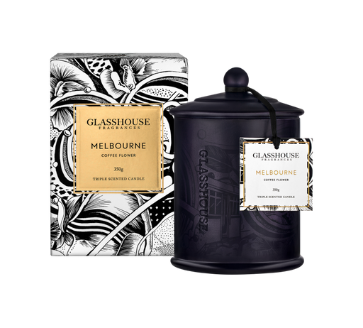 GLASSHOUSE FRAGRANCES LARGE CANDLE 350G - MELBOURNE (LIMITED EDITION)