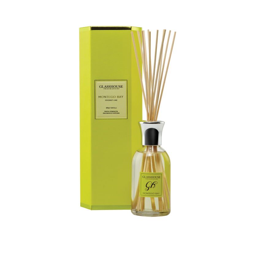 GLASSHOUSE FRAGRANCES DIFFUSER 250ML - MONTEGO BAY