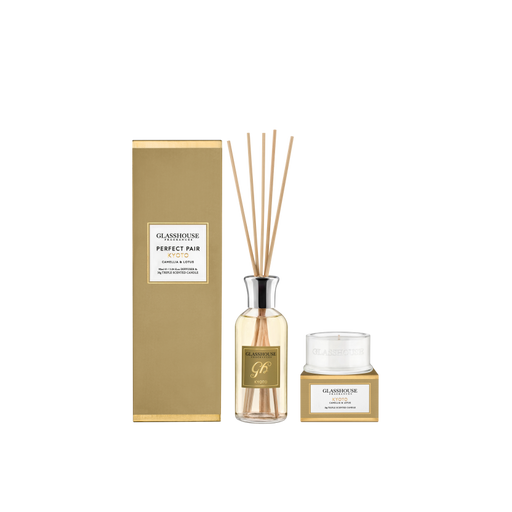 GLASSHOUSE FRAGRANCES GIFT SET PERFECT PAIR - KYOTO