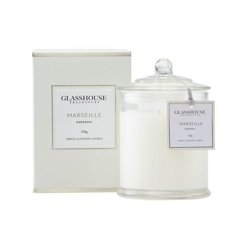 GLASSHOUSE FRAGRANCES LARGE CANDLE 350G - MARSEILLE