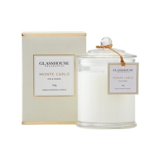 GLASSHOUSE FRAGRANCES LARGE CANDLE 350G - MONTE CARLO