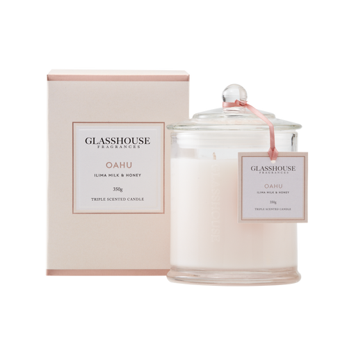 GLASSHOUSE FRAGRANCES LARGE CANDLE 350G - OAHU