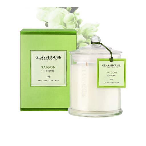 GLASSHOUSE FRAGRANCES LARGE CANDLE 350G - SAIGON