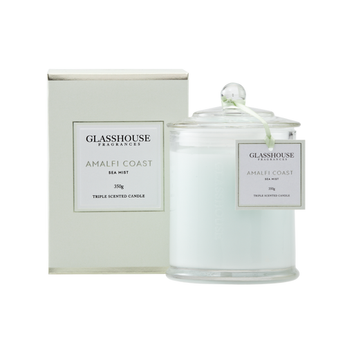 GLASSHOUSE FRAGRANCES LARGE CANDLE 350G - AMALFI COAST