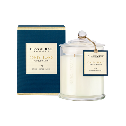 GLASSHOUSE FRAGRANCES LARGE CANDLE 350G - CONEY ISLAND