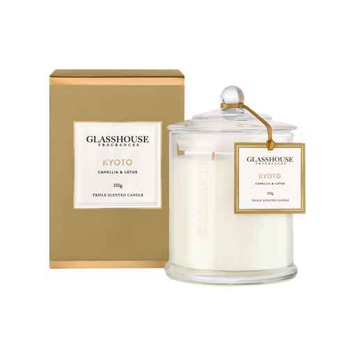 GLASSHOUSE FRAGRANCES LARGE CANDLE 350G - KYOTO