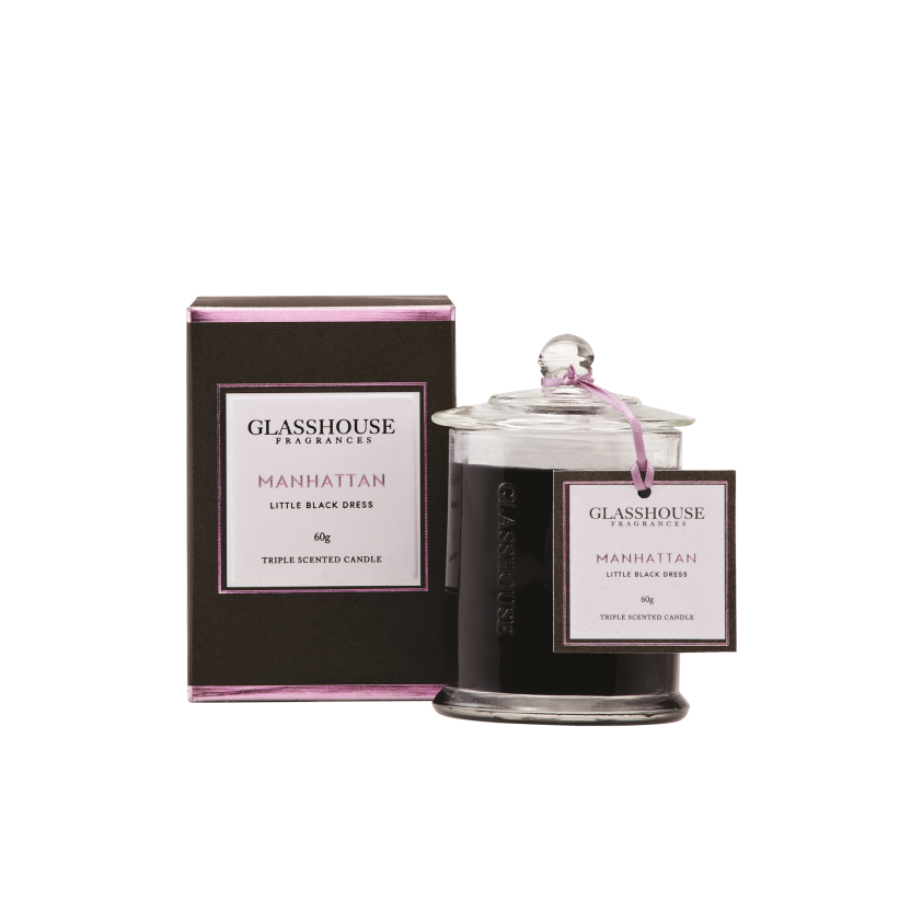 GLASSHOUSE FRAGRANCES MINI CANDLE 60G - MANHATTAN