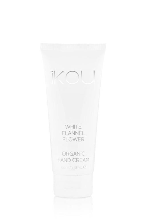 iKOU ORGANIC HAND CREAM 100ML - WHITE FLANNEL FLOWER