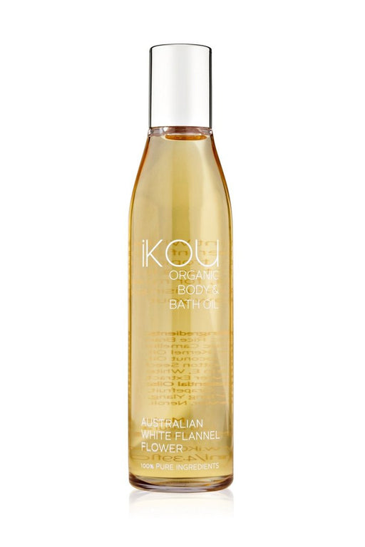 iKOU ORGANIC MASSAGE OIL 130ML - AUSTRALIAN WHITE FLANNEL FLOWER