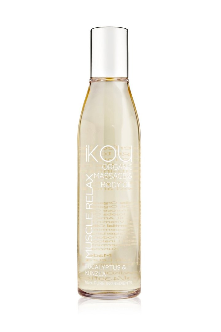 iKOU ORGANIC MASSAGE OIL 130ML - MUSCLE RELAX