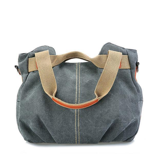 Canvas Portable Large-Capacity Shoulder Bag Ladies Crossbody Bag