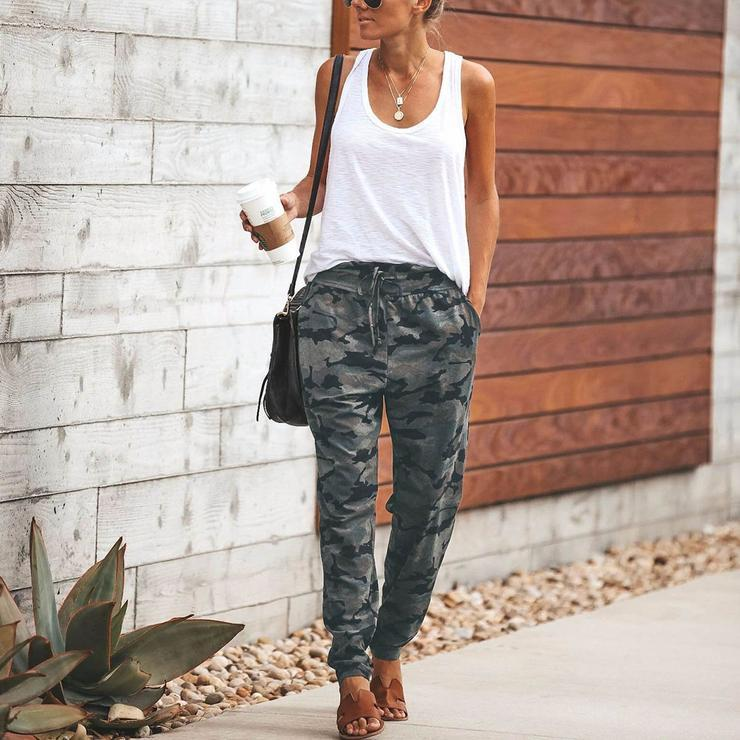 Camouflage Slim Casual Pants