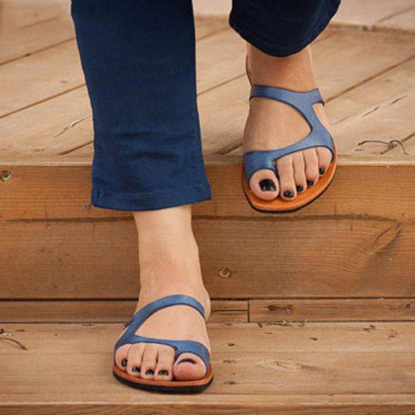 Leather Slippers Casual Flip Flops Shoes