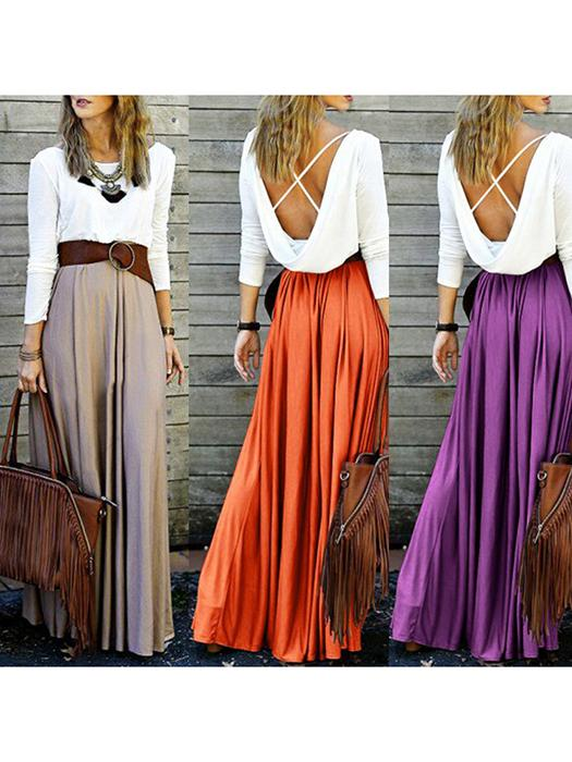 Casual High Waist Elegant Style Pleated Dresses