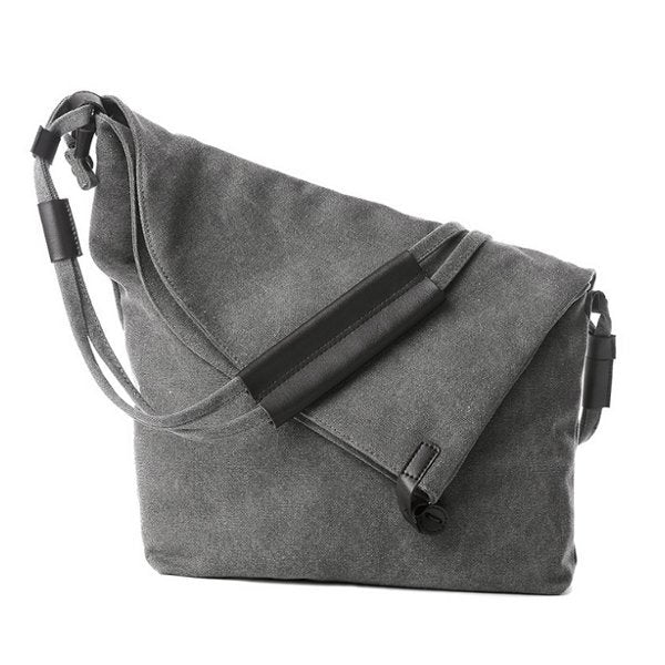 Vintage Canvas Casual Large Capacity Crossbody Bags Leisure Retro Shoulder Bags