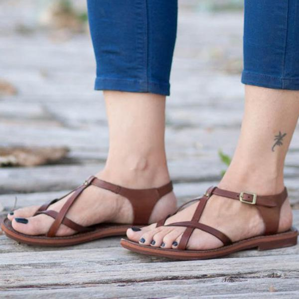 Vintage Fashion Flat Beach Sandals