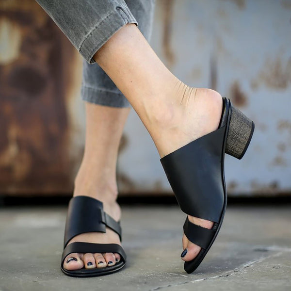 Casual Slip-on Thick Heel Sandals