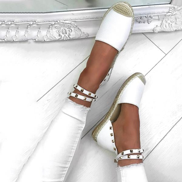 Casual Weaving Adjustable Buckle Flat Sandals