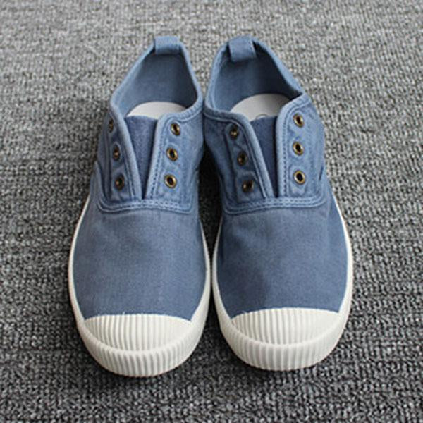 Casual Slip On Flat Canvas Shoes