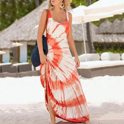 Fashion Vacation Sleeveless Maxi Dresses
