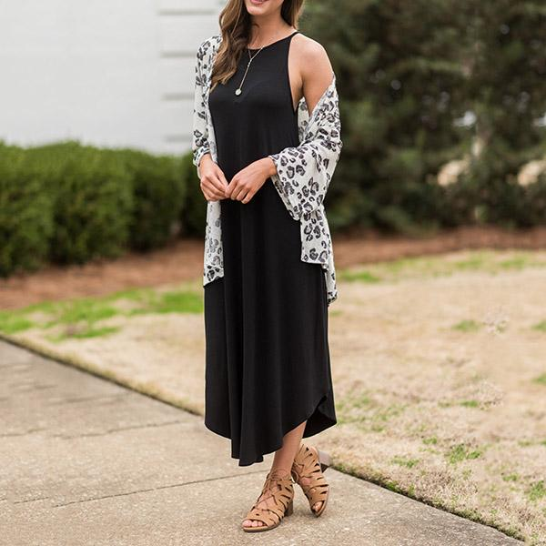 Casual Sleeveless Solid Color Maxi Dresses