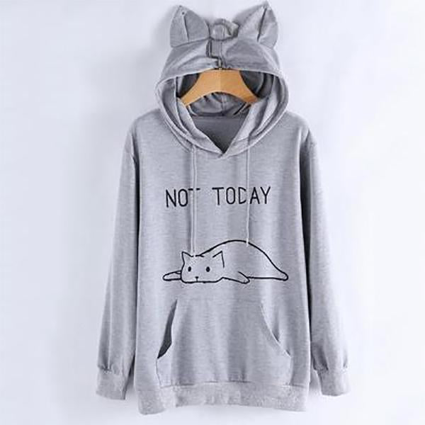 Cute Cat Ear Long Sleeve Casual Hoodies