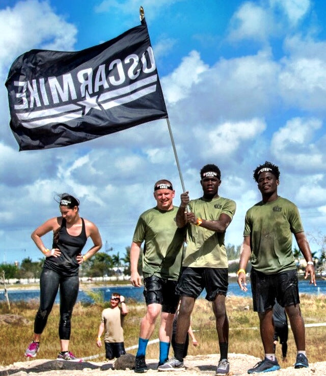 Give Team OCR Team in Miami running Spartan Sprint with Oscar Mike Foundation