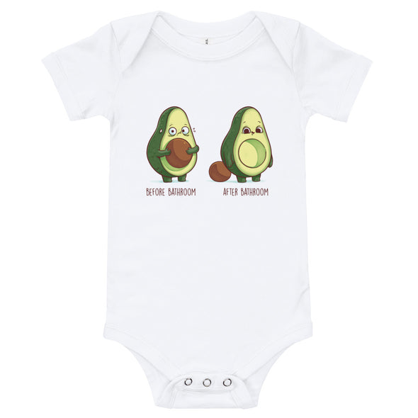 Before After Bathroom - Baby Bodysuit Short Sleeve