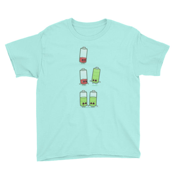 Low Battery - Youth Short Sleeve T-Shirt