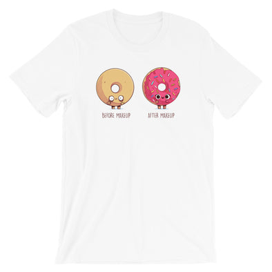 Before After Make Up Donut - Short Sleeve Unisex T-Shirt
