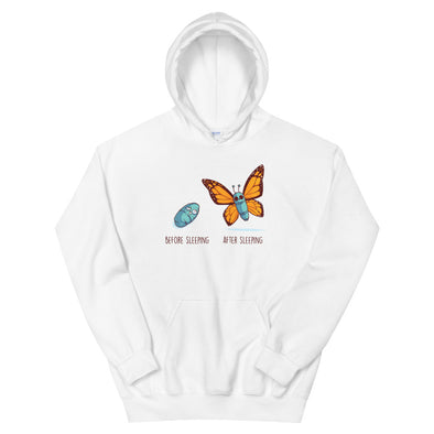Before After Sleeping - Hooded Sweatshirt