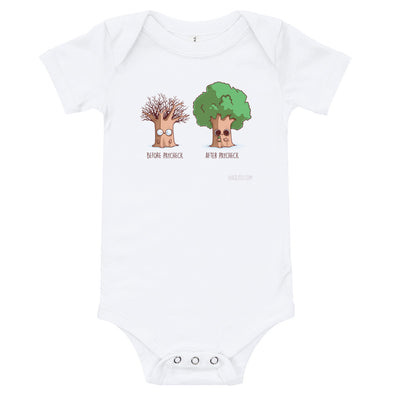 Before After Paycheck - Baby Bodysuit Short Sleeve