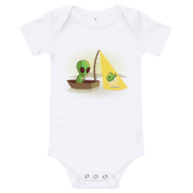 Alien Fishing - Baby Bodysuit Short Sleeve