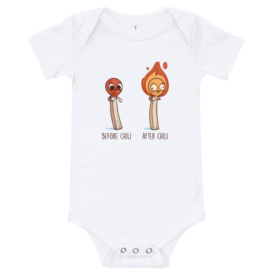 Before After Chili - Baby Bodysuit Short Sleeve