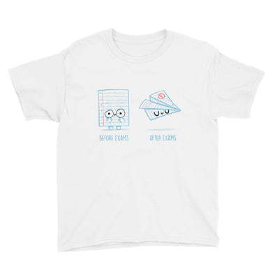 Before After Exams - Youth Short Sleeve T-Shirt