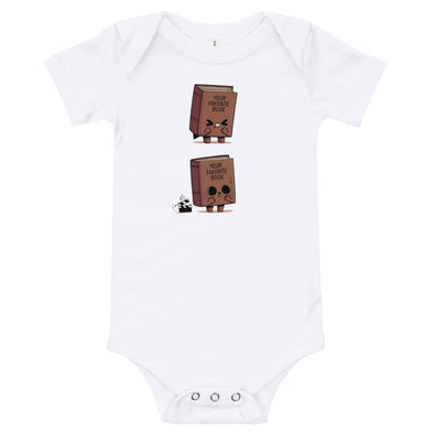 Shitty Book - Baby Bodysuit Short Sleeve