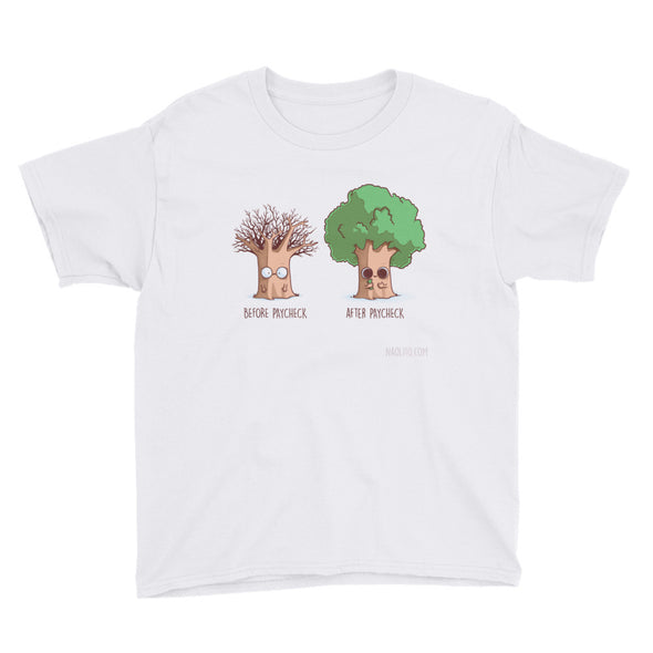 Before After Paycheck - Youth Short Sleeve T-Shirt