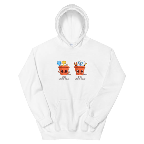 Before After Back To School - Hooded Sweatshirt