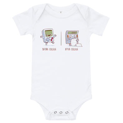 Before After College - Baby Bodysuit Short Sleeve