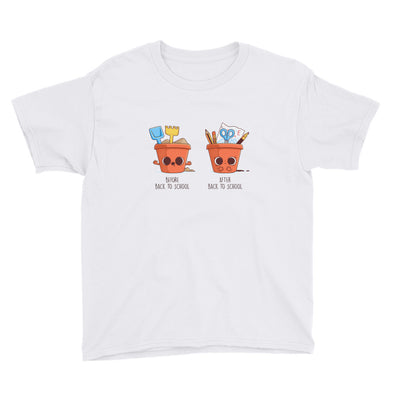 Before After Back To School - Youth Short Sleeve T-Shirt