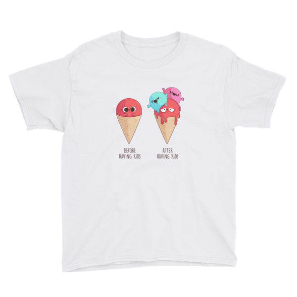 Before and After Having Kids - Youth Short Sleeve T-Shirt